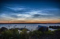 Серебристые облака над Онего. Фото - Р.Катаев